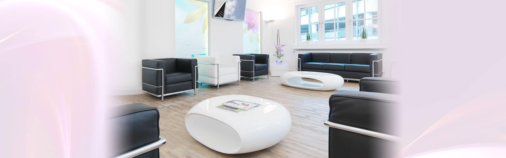 Wartezimmer der zahnärztlichen Gemeinschaftspraxis Dr. Schultze-Gläsner